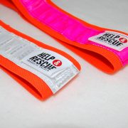 Resårhalsband med vit respektive rosa reflex